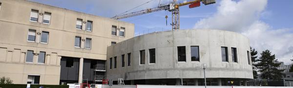 Chantier bâtiment réanimation chirurgicale