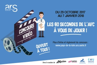 Affiche du concours vidéo sur l'accident vasculaire cérébrale.